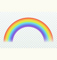 realistic rainbow color arch joyful summer spring vector image