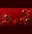 red and gold christmas background xmas holidays vector image vector image