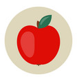 red apple icon flat vector image vector image