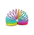 retro 90s style rainbow colored plastic spring vector image vector image