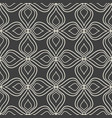 seamless abstract floral pattern on dark grey vector image vector image