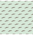 Seamless mustache pattern mint green background vector image vector image