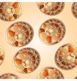 seamless snail shells vector image vector image