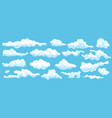 sky cloud set isolated abstract cloudscape vector image