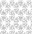 Slim gray hatched trefoils vector image vector image