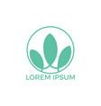 spa logo lotus wellness salon and business spa log vector image vector image
