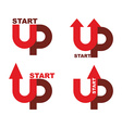 Startup logo Character set for commencement of vector image