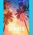 summer beach inspiration card for wedding date vector image