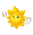 sun in throwing ball vector image