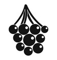 sweet grape icon simple style vector image