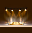 the gold podium is winner or popular on light vector image vector image