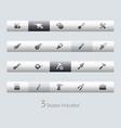 tools - toolbars vector image