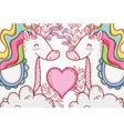 unicorns in love vector image