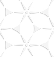 White geometrical triangles and stars seamless vector image vector image