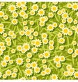 yellow white flowers seamless background pattern vector image vector image