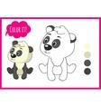 Cute panda Cartoon character isolated on a vector image