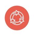 Arrow circle thin line icon vector image