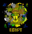 image of an egyptian dog ornament of vector image