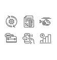 24h service cogwheel and call center icons set vector image vector image