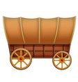 a wooden carriage on a white background vector image vector image