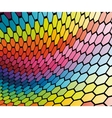 abstract cell rainbow background vector image vector image
