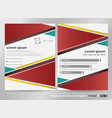 abstract of colorful modern business brochure vector image