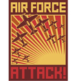 air force attack poster vector image vector image