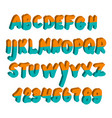 alphabet display letters colored font that is vector image