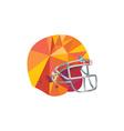 American Football Helmet Low Polygon vector image vector image