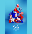 american independence day festive vector image vector image