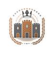 ancient castle emblem heraldic coat of arms