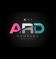 ard a r d three letter logo icon design vector image vector image