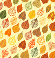 autumn seamless leaves pattern vector image