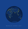 background for world sleep day vector image vector image