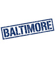 baltimore blue square stamp vector image vector image