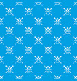 baseball club pattern seamless blue vector image