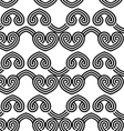 Black and white overlapping hearts in row vector image
