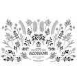 bloom nature collection vector image vector image