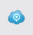 Blue cloud map pin icon vector image vector image