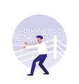boxing referee avatar character vector image