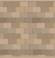 brick wall stone design in brown color vector image