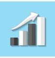 chart web flat icon vector image vector image