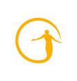 circle bless symbol design vector image