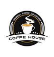 coffe logo emplems vector image vector image