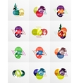 Collection of Christmas Sale Stickers Labels and vector image vector image