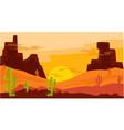 desert mountain sandstone landscape vector image vector image