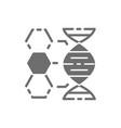 dna structure genetics molecule analysis grey vector image