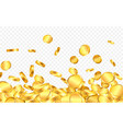 falling from top a lot gold coins on vector image vector image