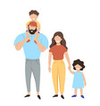 family isolated on a white background graphics vector image