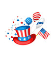 fourth july independence day print vector image